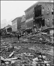 JOHNSTOWN NEW YORK 1889 FLOOD DISASTER BROKEN MILL-DAM